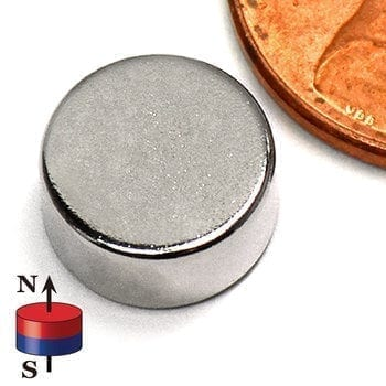 """Disk N35 NiCuNi Plated D3/8"""" x 0.2""""(A)"""